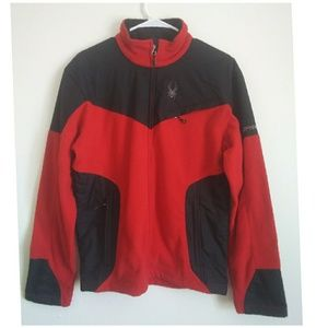 Spyder Red & Black Recycled Fleece Full Zip Jacket